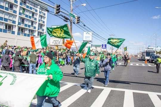 Thousands of people stood along Coastal Highway in Ocean City to watch the St. Patrick's Day Parade on Saturday, March 16, 2019.
