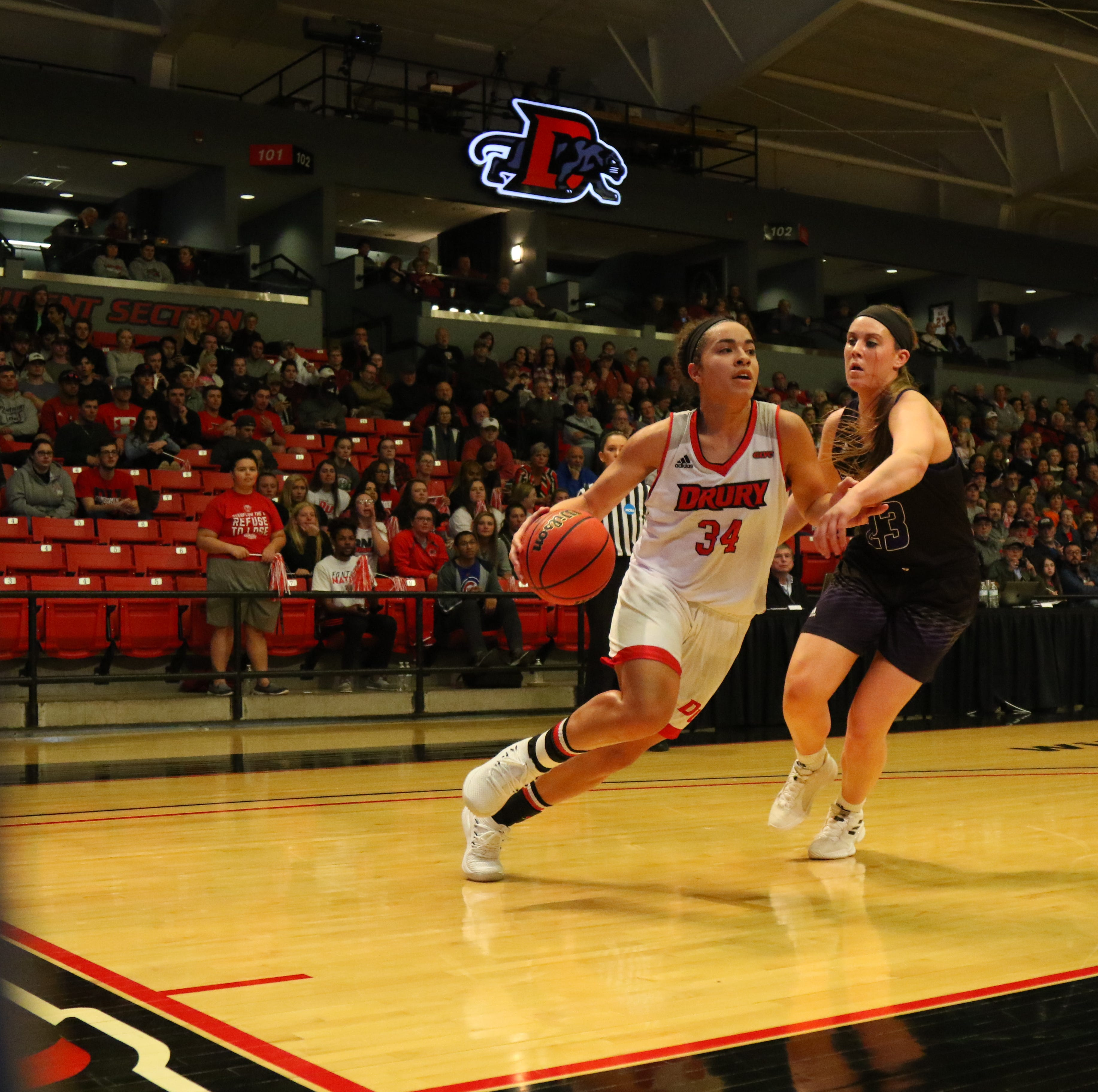 Drury overcomes missing players in regional victory