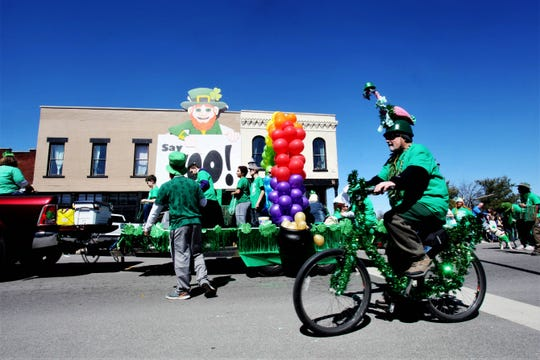 It was clear weather for the St. Patrick's Day parade in Springfield March 16, 2019.