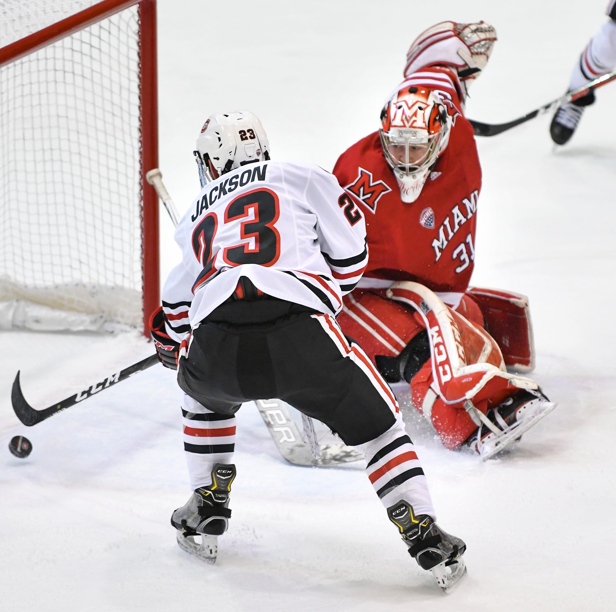 St. Cloud State downs Miami in game one