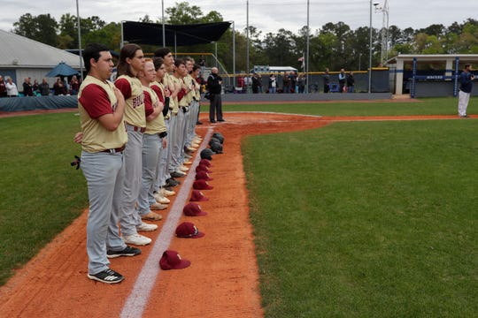 The team's first game after the tragedy took place at Maclay High School in Tallahassee.