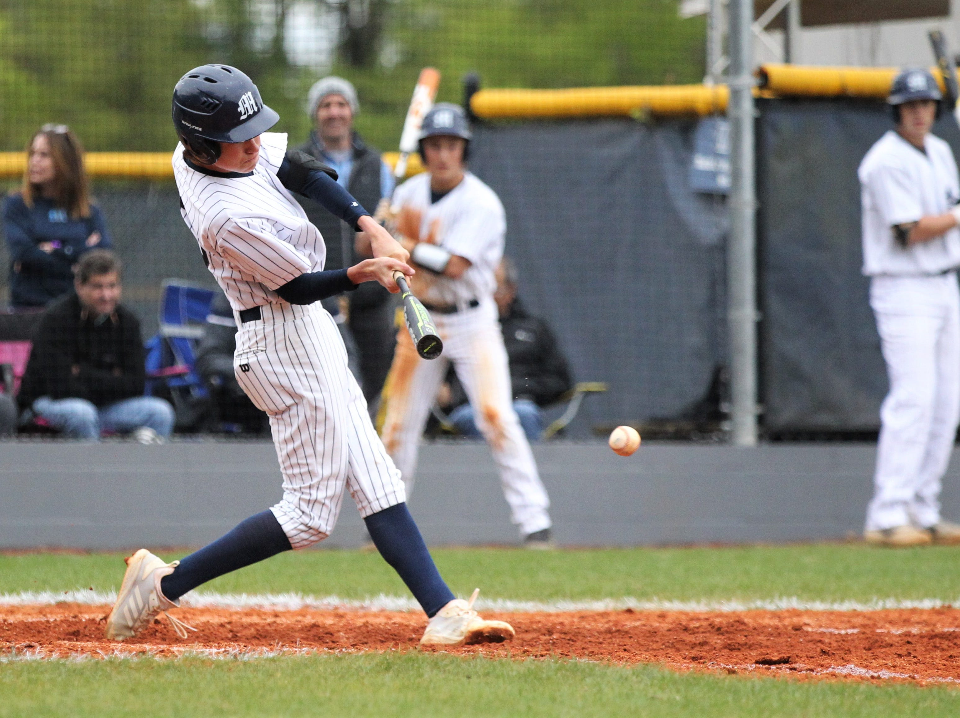 Maclay's Josh Tudor bats as Liberty County's baseball team went on the road to beat Maclay 8-2 on Saturday, March 16, 2019. The Bulldogs played their first game following their head coach Corey Crum's tragic death six days ago.