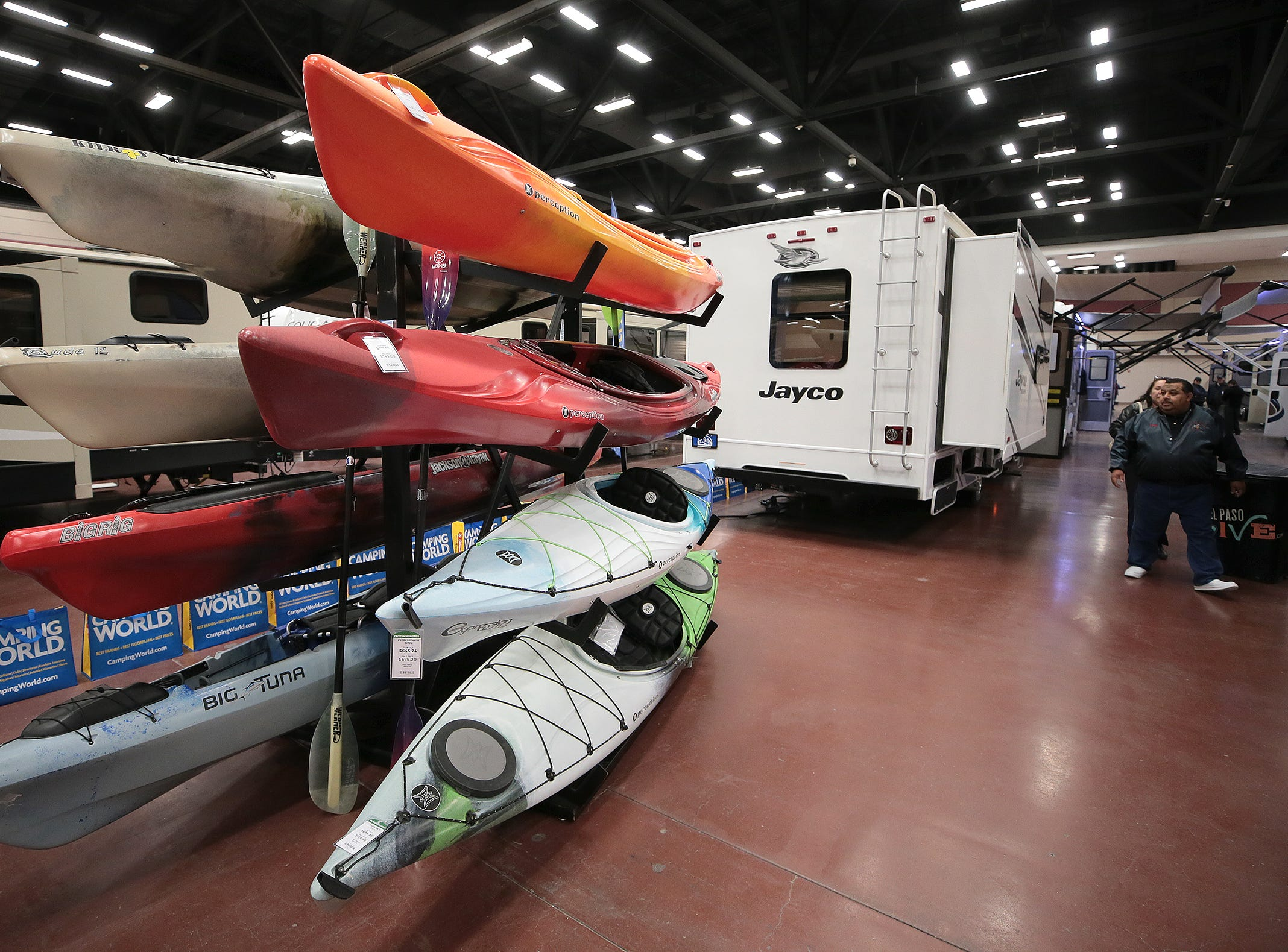 The 2019 El Paso RV Show is camped out at the Judson F. Williams Convention Center through Sunday.