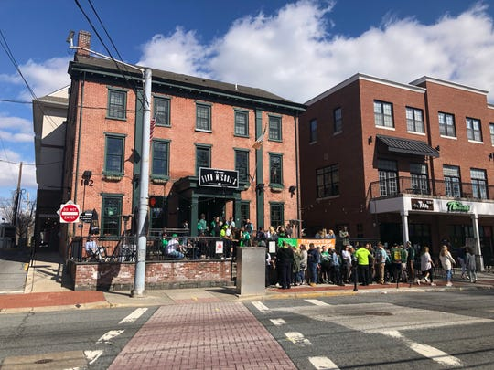A line to get into Finn McCool's on St. Patrick's Day weekend.