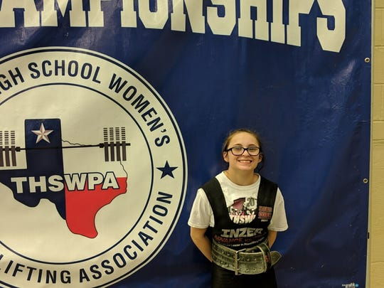 Rider's Courtney Edmonds set a program record for the 97-pound division, lifting a total of 615 pounds.