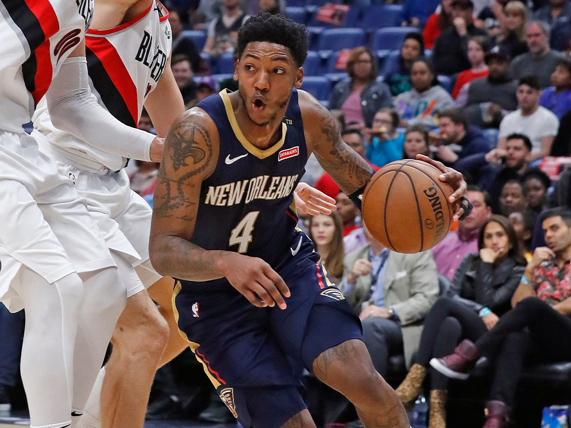 102. Elfrid Payton, Pelicans (March 15): 14 points, 16 assists, 12 rebound sin 122-110 loss to Trail Blazers (fourth of season).