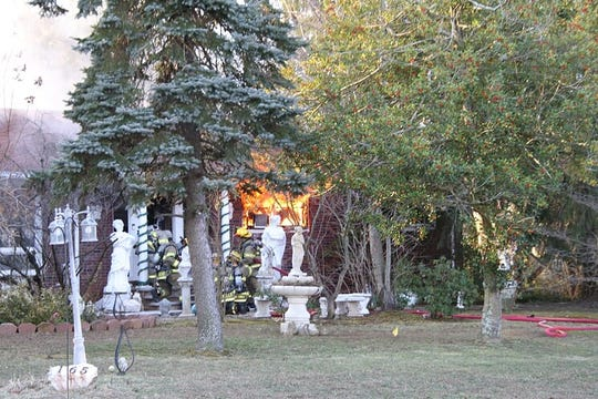 Fire at home on New Monmouth Road, Middletown
