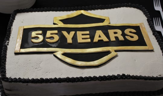 A Kent's Harley-Davidson fan made a cake - no charge - for Saturday's anniversary celebration.