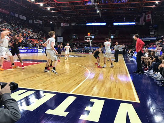 Action from Cooperstown vs. Middle Early College in Class C state final.