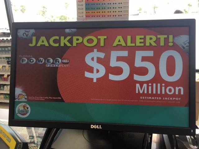 Powerball jackpot eclipses half a billion dollars.
