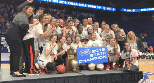 Ryle is 2019 girls basketball KHSAA state champions.