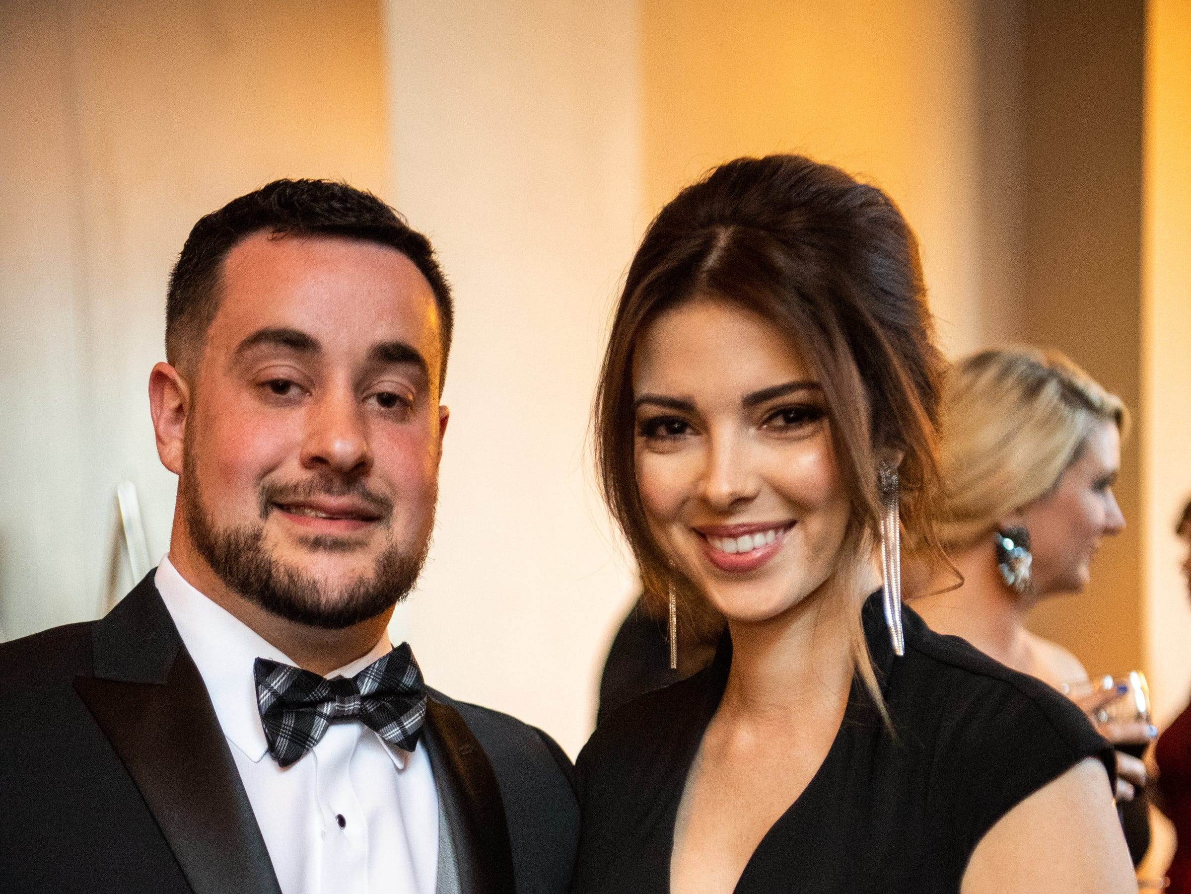 JR and Victoria Miller pose for a photo during Austin Peay State University's annual Candlelight Ball at the Omni Nashville Hotel Saturday, March 16, 2019, in Nashville, Tenn.