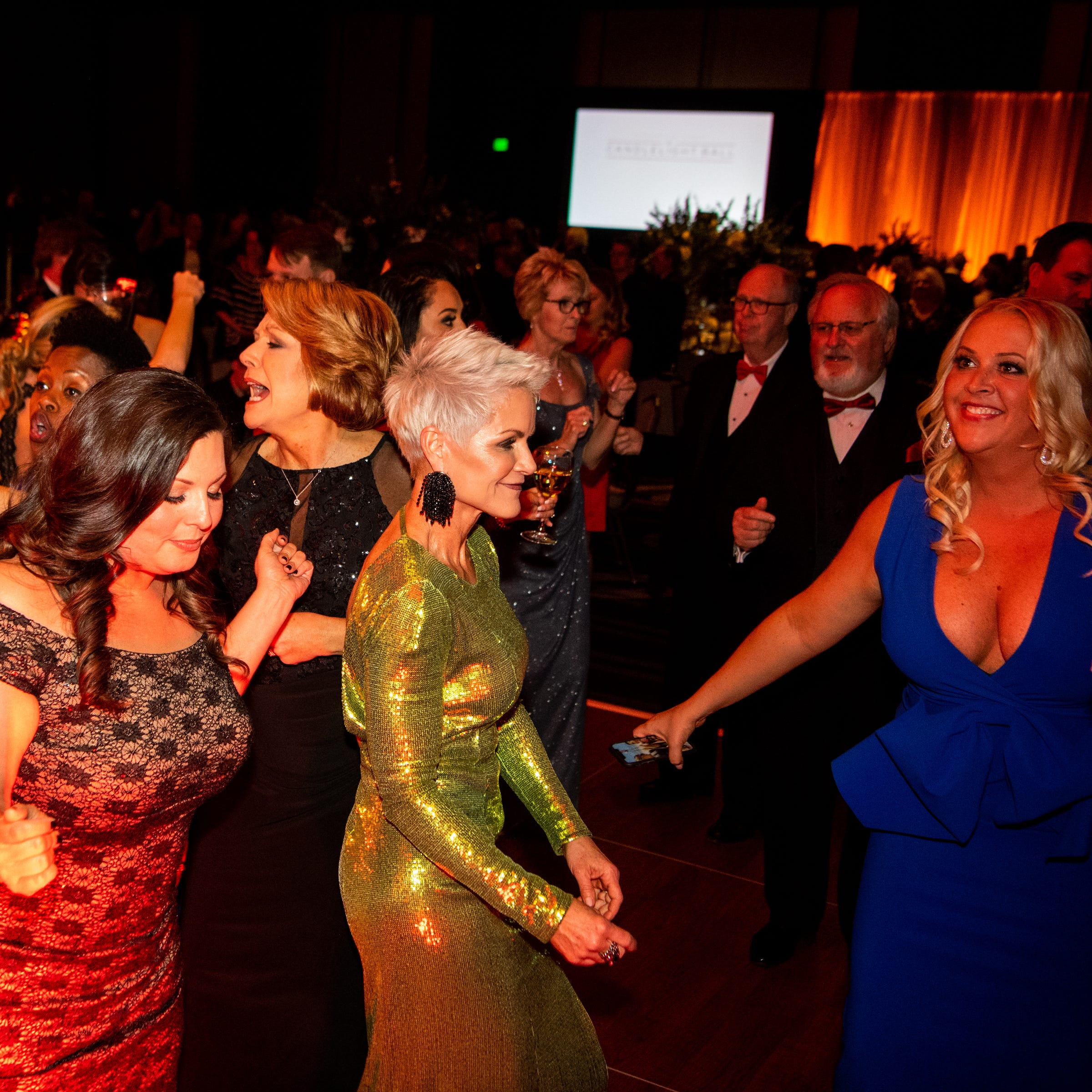 Candlelight Ball: What they wore, from ball gowns to sparkles and lace
