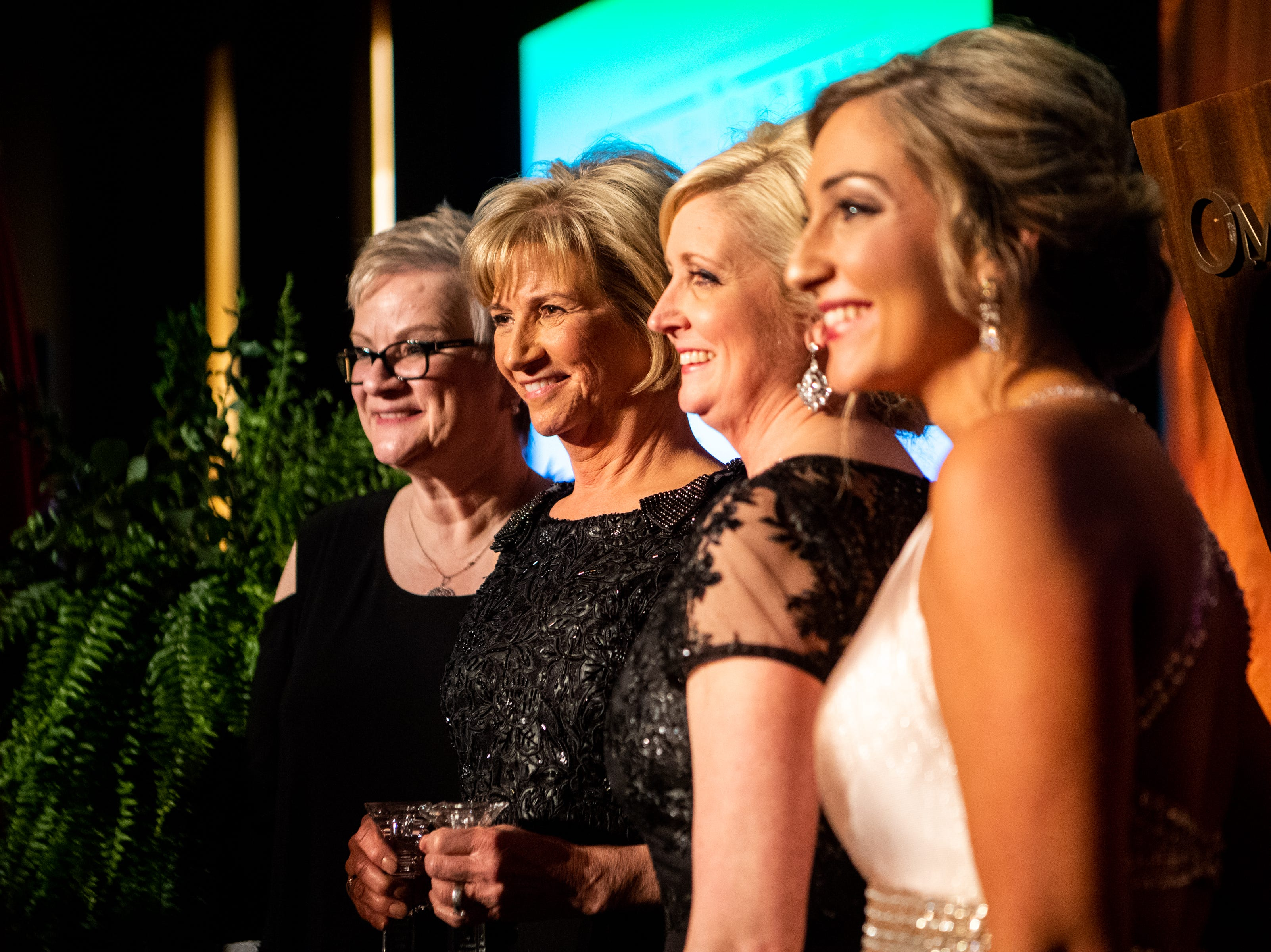 Dr. Jeannie Beauchamp receives the Wendell H. Gilbert Award during Austin Peay State University's annual Candlelight Ball at the Omni Nashville Hotel Saturday, March 16, 2019, in Nashville, Tenn.