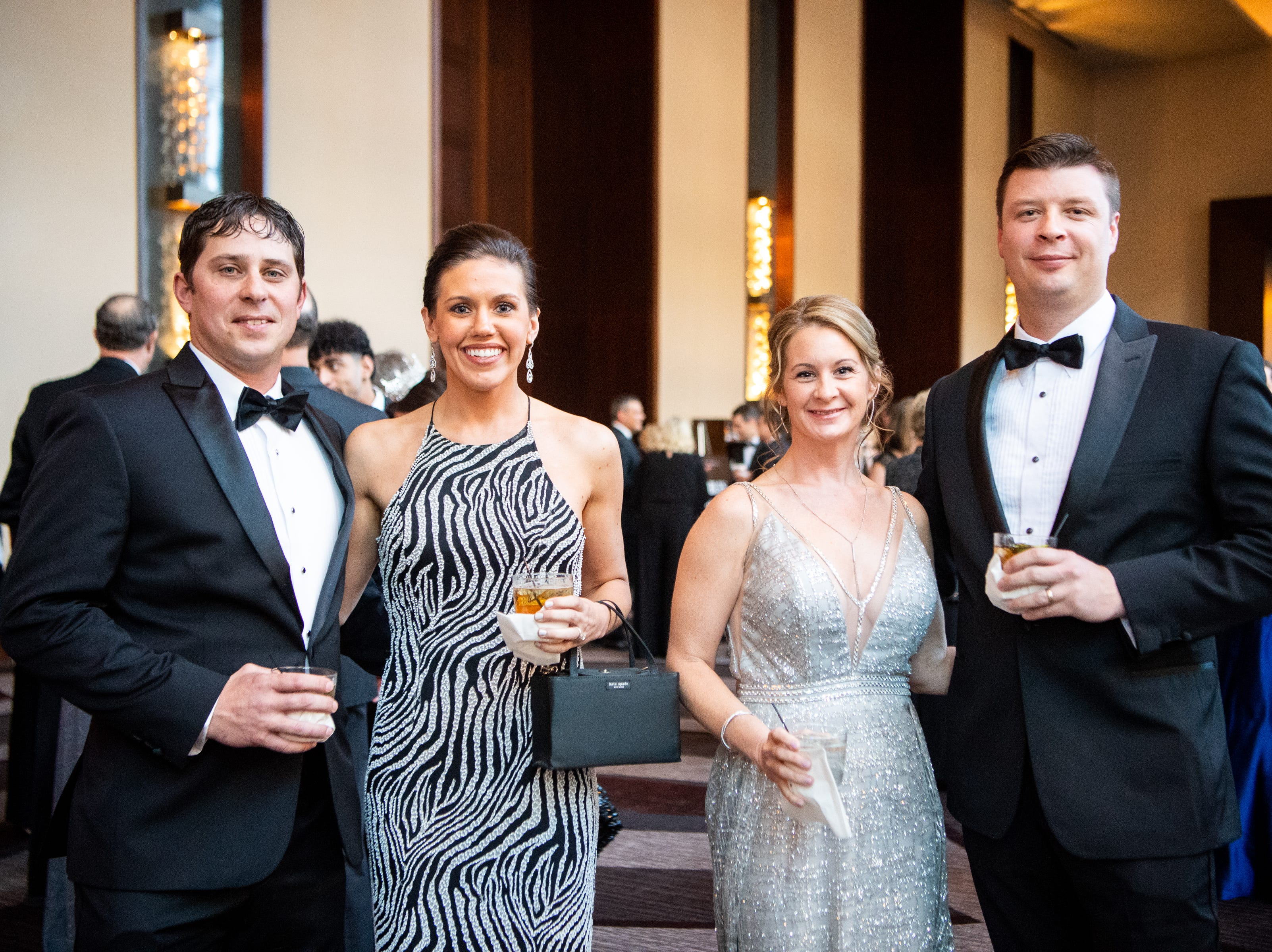 Jake and Mary Welch pose for a photo with Ben and Jody Stanley during Austin Peay State University's annual Candlelight Ball at the Omni Nashville Hotel Saturday, March 16, 2019, in Nashville, Tenn.