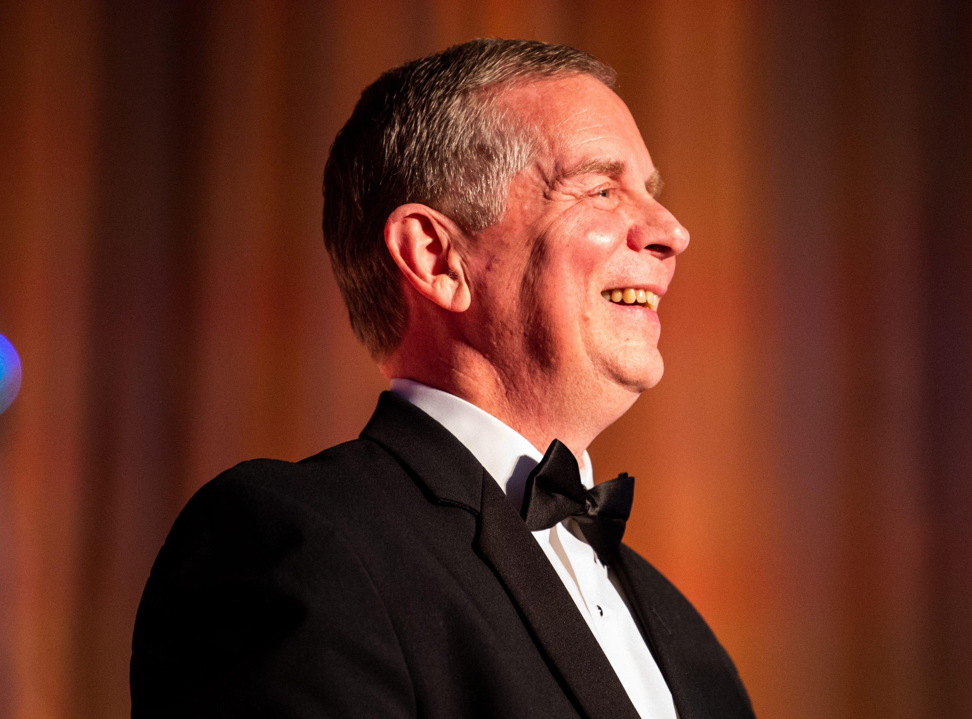 Mayor Joe Pitts smiles during Austin Peay State University's annual Candlelight Ball at the Omni Nashville Hotel Saturday, March 16, 2019, in Nashville, Tenn.