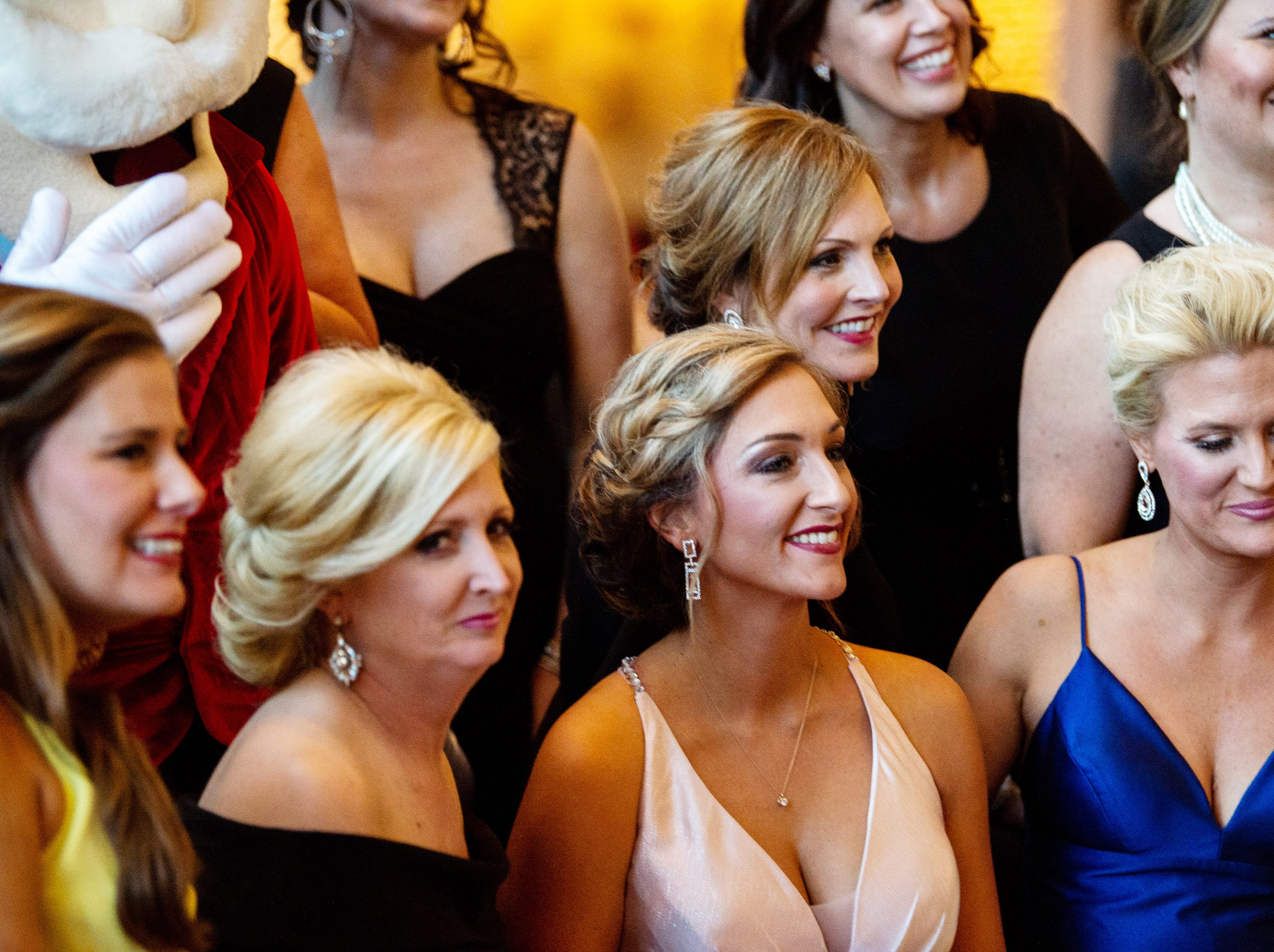 The Candlelight Ball's committee group poses for a photo during Austin Peay State University's annual Candlelight Ball at the Omni Nashville Hotel Saturday, March 16, 2019, in Nashville, Tenn.