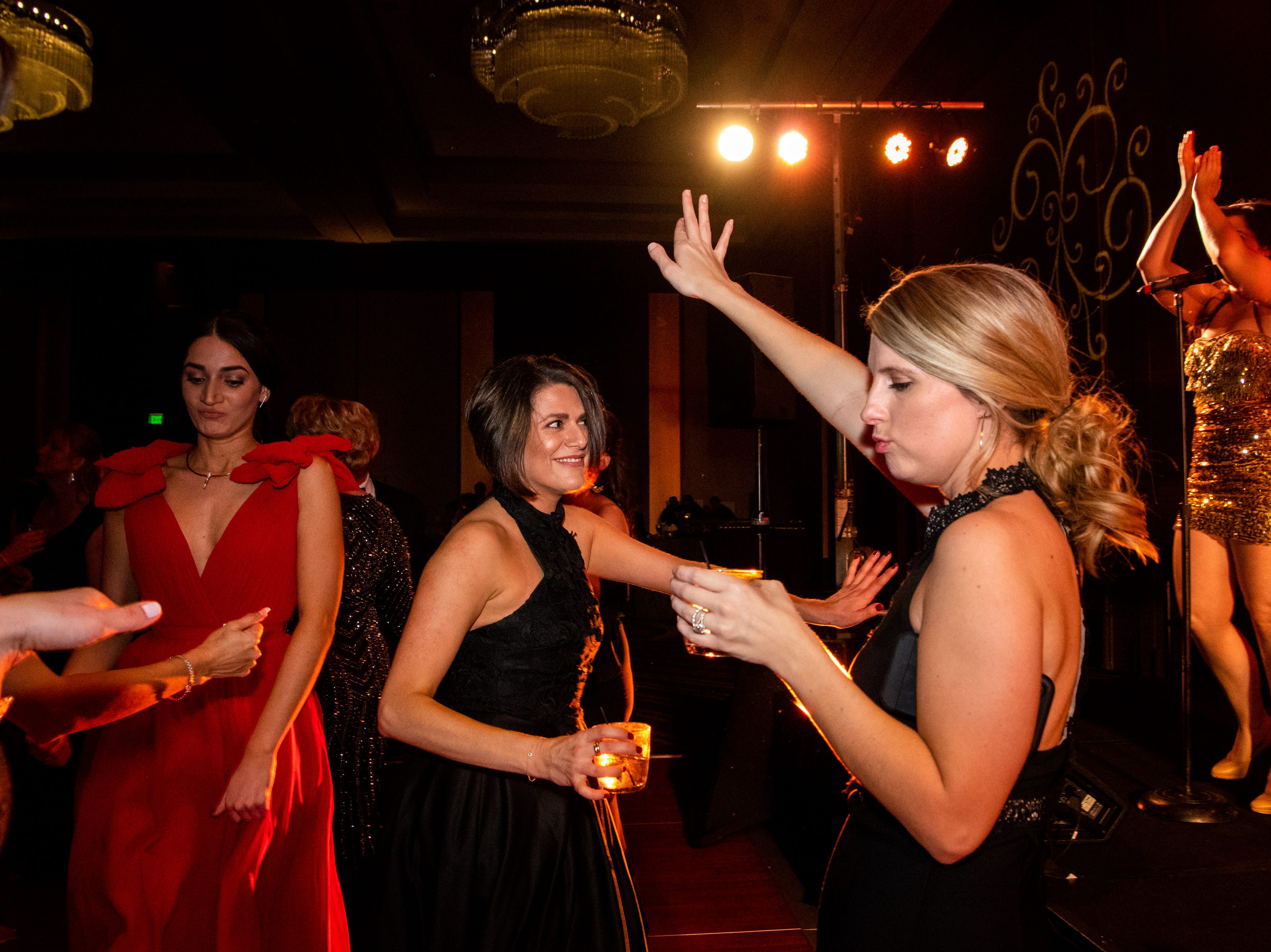 People dance during Austin Peay State University's annual Candlelight Ball at the Omni Nashville Hotel Saturday, March 16, 2019, in Nashville, Tenn.