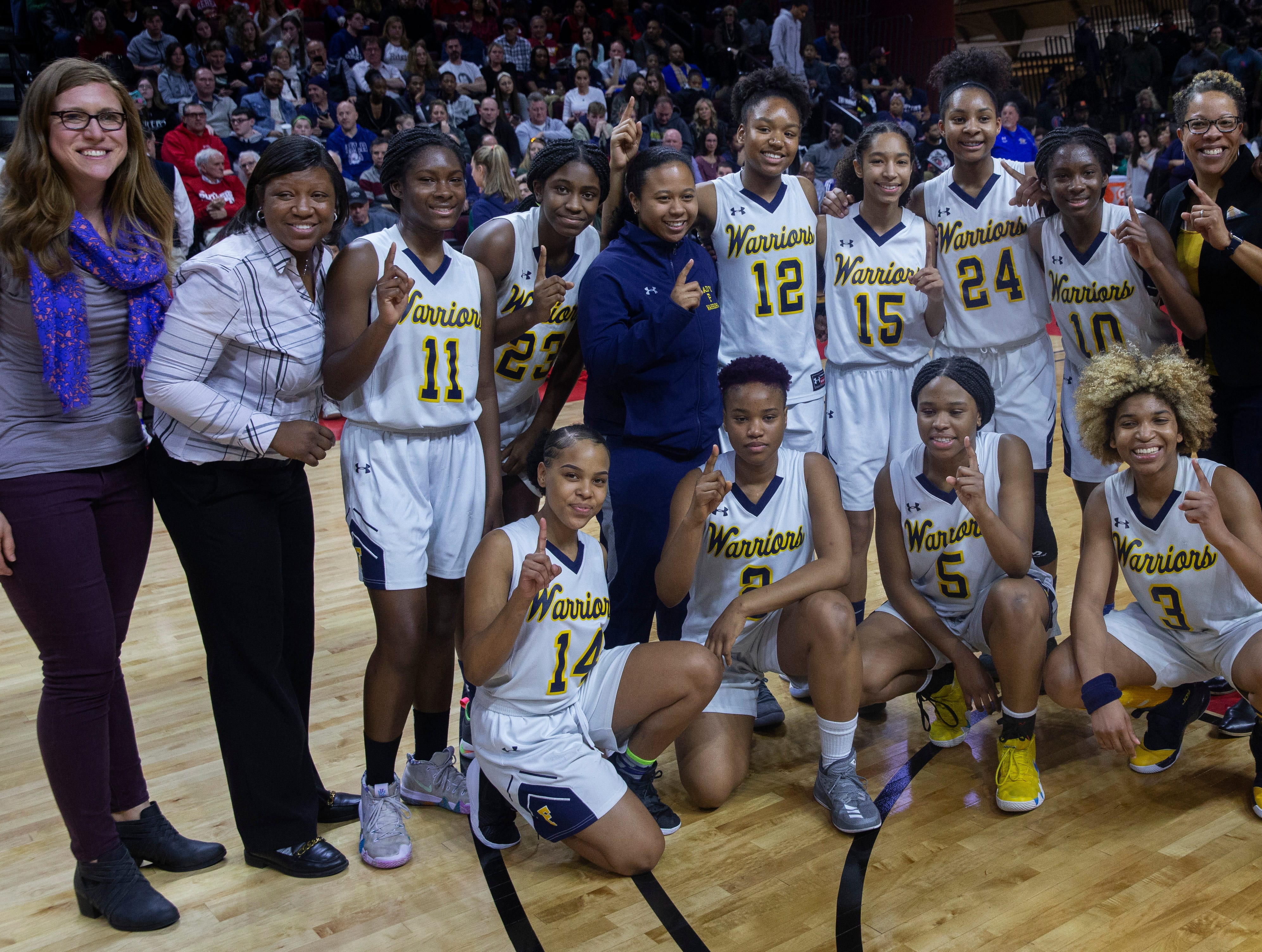 Franklin Girls Basketball vs Saddle River Day School  in 2019 NJSIAA Tournament of Champions Final in Piscataway, NJ  on March 17, 2019.