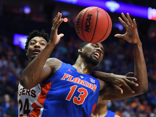 Florida center Kevarrius Hayes averages 6.3 rebounds and 1.9 blocks per game, both of which lead the Gators.