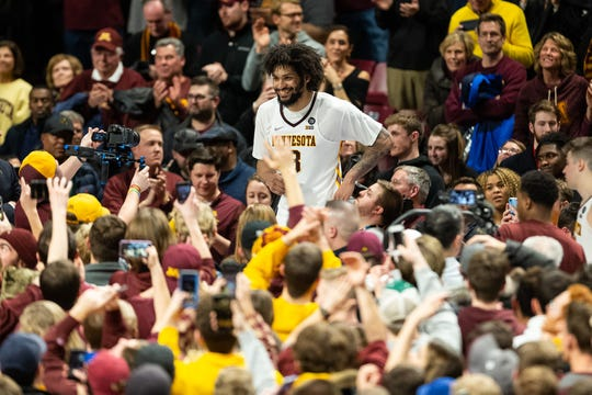 Minnesota Golden Gophers forward Jordan Murphy leads the team with 11.5 rebounds per game this season.