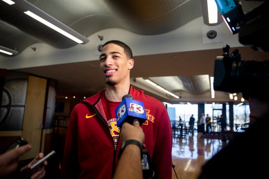 Iowa State point guard Tyrese Haliburton is helping his team on the recruiting trail.
