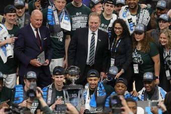 Michigan State rallied in the 2nd half en route to its 6th Big Ten tournament title and third win this season over Michigan, 65-60, March 17, 2019.