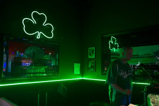 Larry Spears, 48, of Garden City has been deejaying for Malarkey's Irish Pub for 11 years and this St. Patrick's Day will be his last for the Irish pub. Malarkey's Irish Pub is being forced to close and St. Patrick's Day will be their last day of operation.