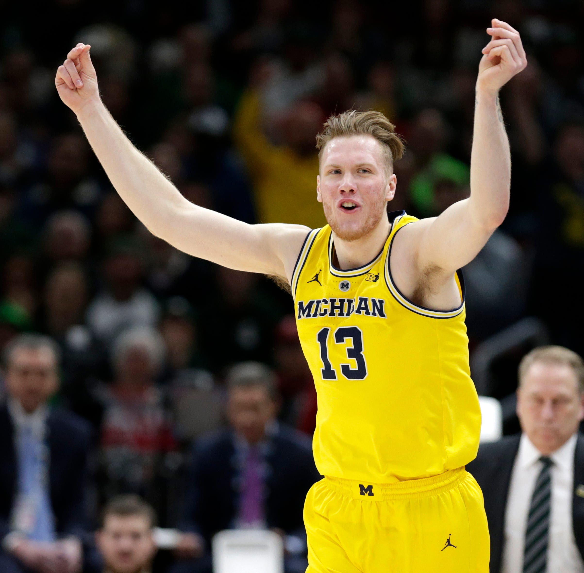UM's Ignas Brazdeikis works out with Pistons; he's hearing he'd be drafted '20 to 40'