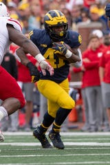 With the status of Chris Evans uncertain, Michigan running back Christian Turner (41) could be in line for a larger workload in 2019.