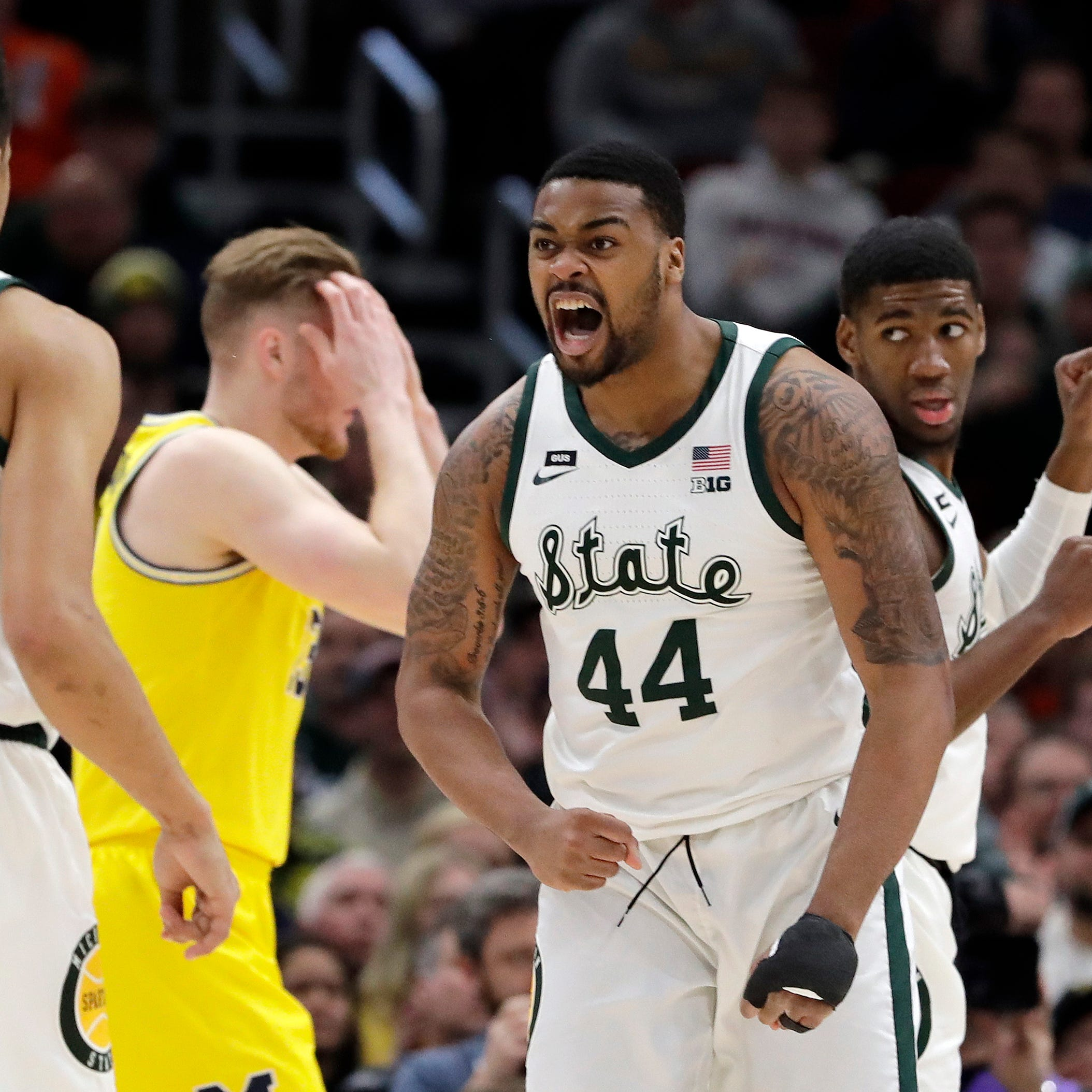 Live updates: 2-seed Michigan State to play Bradley, 2-seed Michigan gets Montana