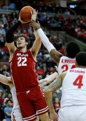 Ethan Happ's woeful free-throw shooting (47 percent) is a liability for Wisconsin.