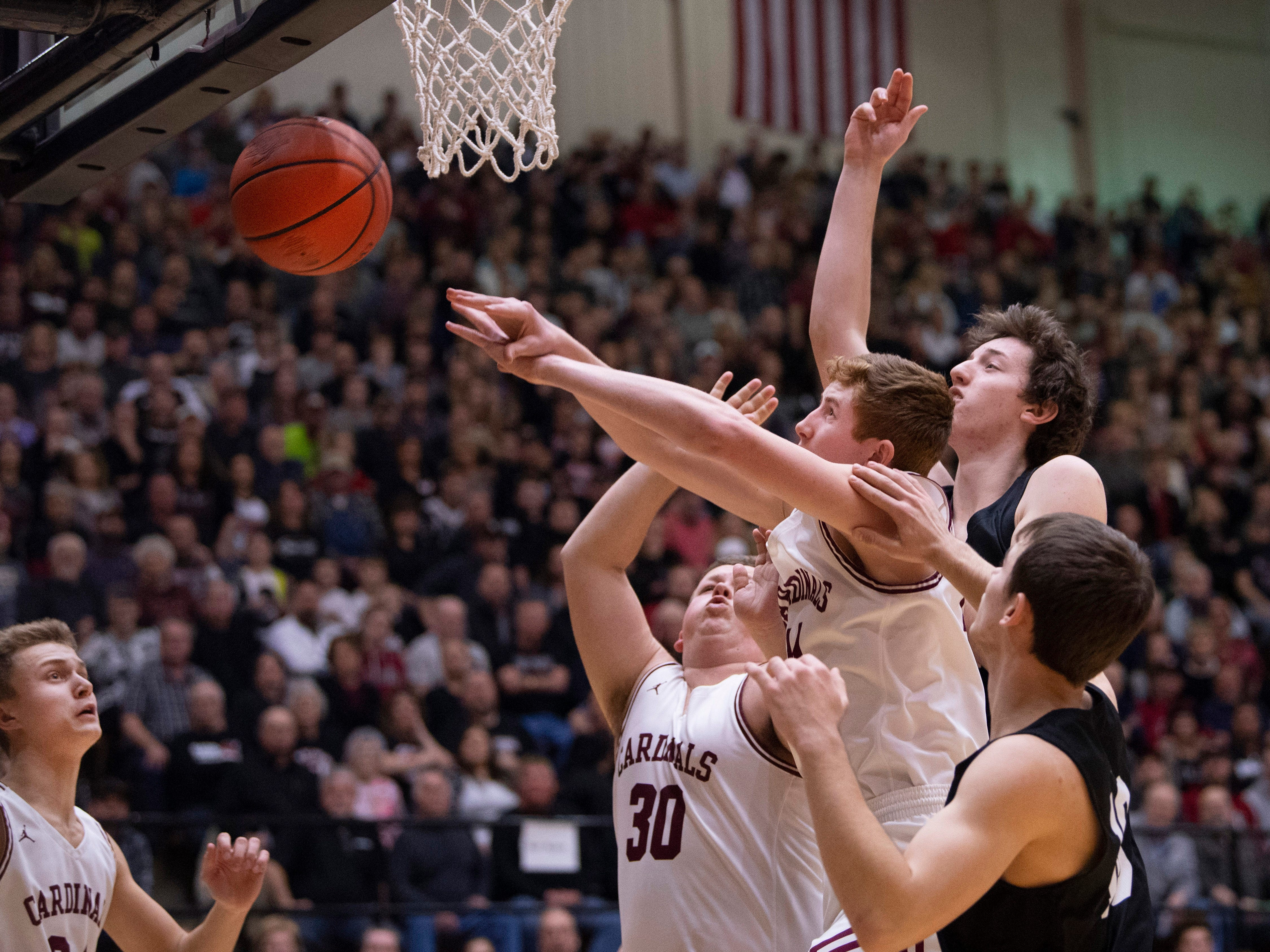 Points were hard to come by for Bloomfield against Barr-Reeve in the 1A Boys Indiana Semi-State Basketball Tournament at the Hatchet House in Washington, Ind., Saturday afternoon.