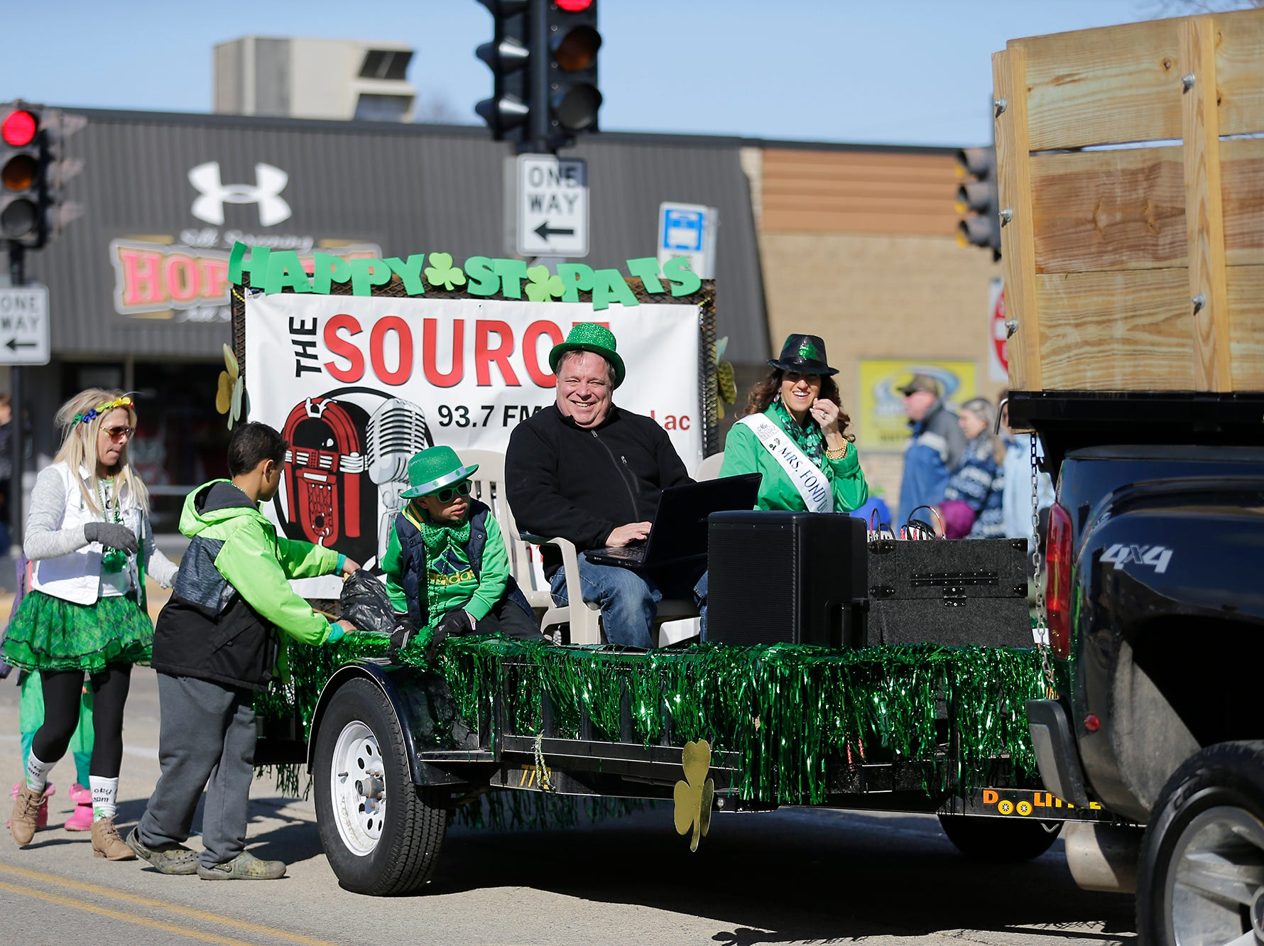 Radio station 93.7 The Source participated in the City of Fond du Lac St. Patrick's Day Parade Saturday, March 16, 2019 on Main Street in downtown Fond du Lac. Hundreds of people lined the street to watch over 50 parade participants. Doug Raflik/USA TODAY NETWORK-Wisconsin