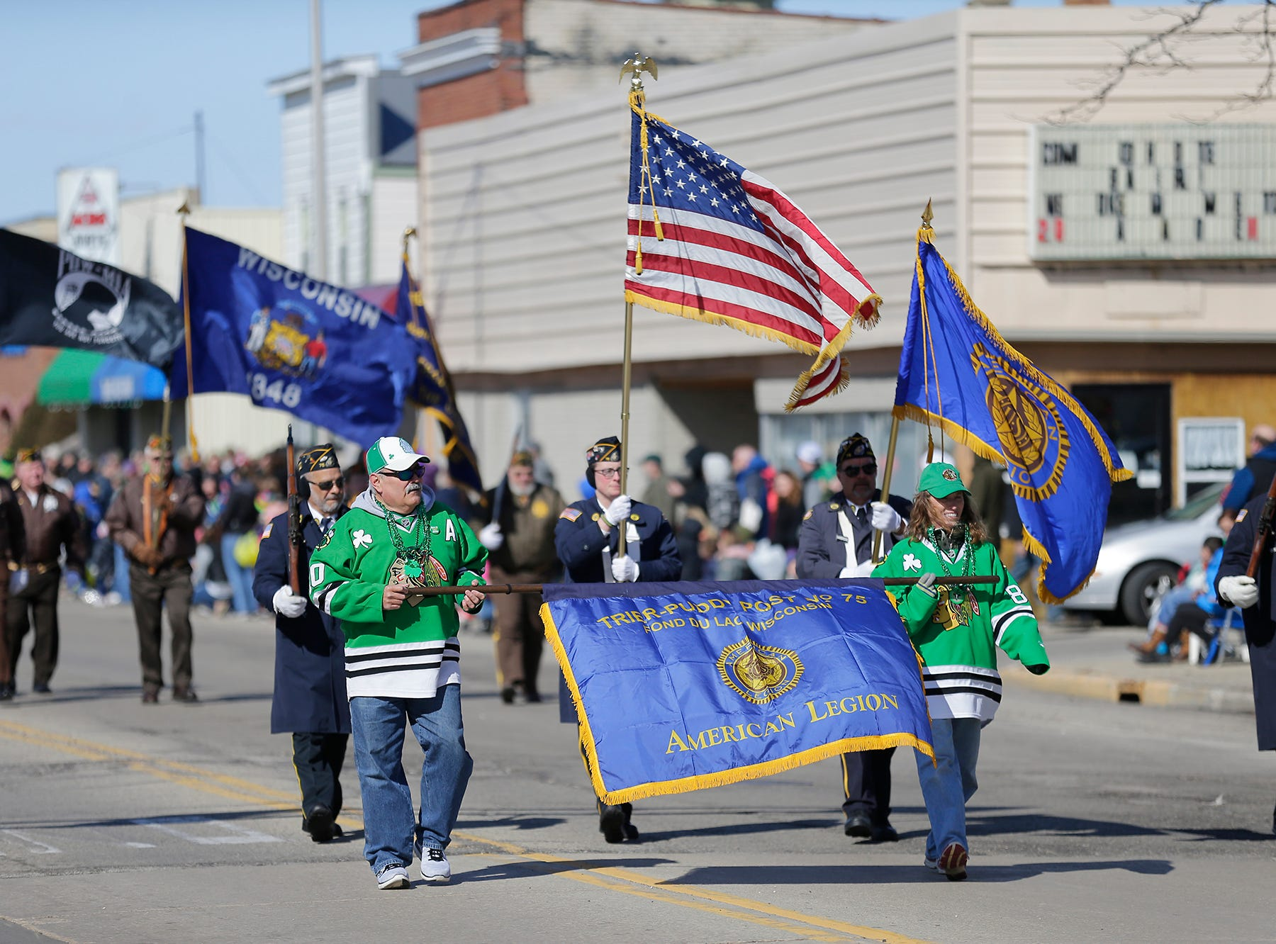 Hundreds of people lined the street Saturday; March 16, 2019 on Main Street in downtown Fond du Lac to watch the City of Fond du Lac St. Patrick's Day Parade .; Doug Raflik/USA TODAY NETWORK-Wisconsin
