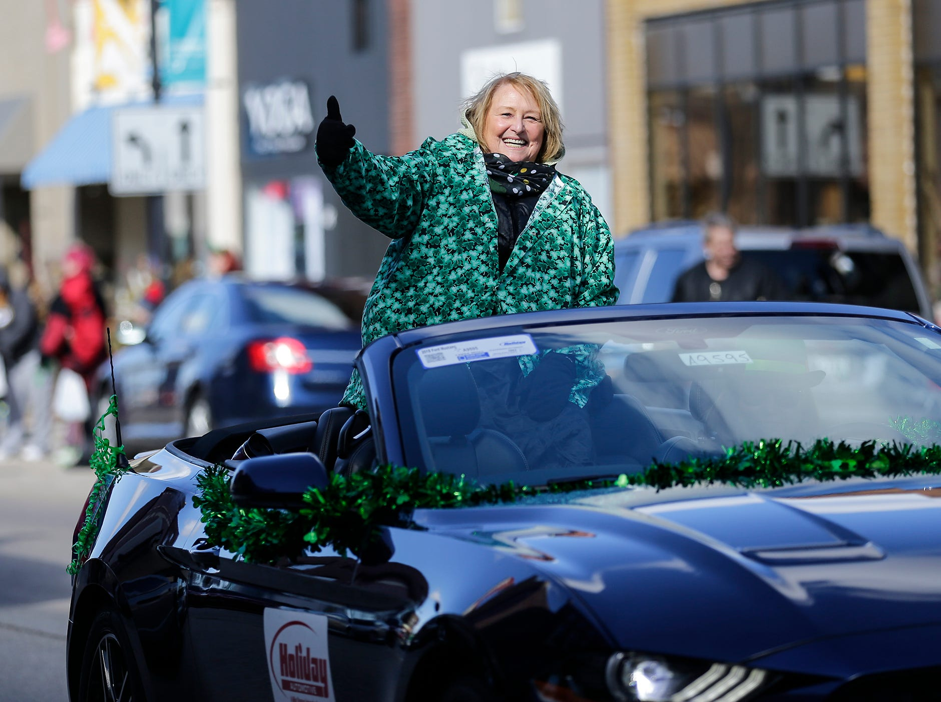Fond du Lac City Council President Karyn Merkel participated in the City of Fond du Lac St. Patrick's Day Parade Saturday, March 16, 2019 on Main Street in downtown Fond du Lac. Hundreds of people lined the street to watch over 50 parade participants. Doug Raflik/USA TODAY NETWORK-Wisconsin