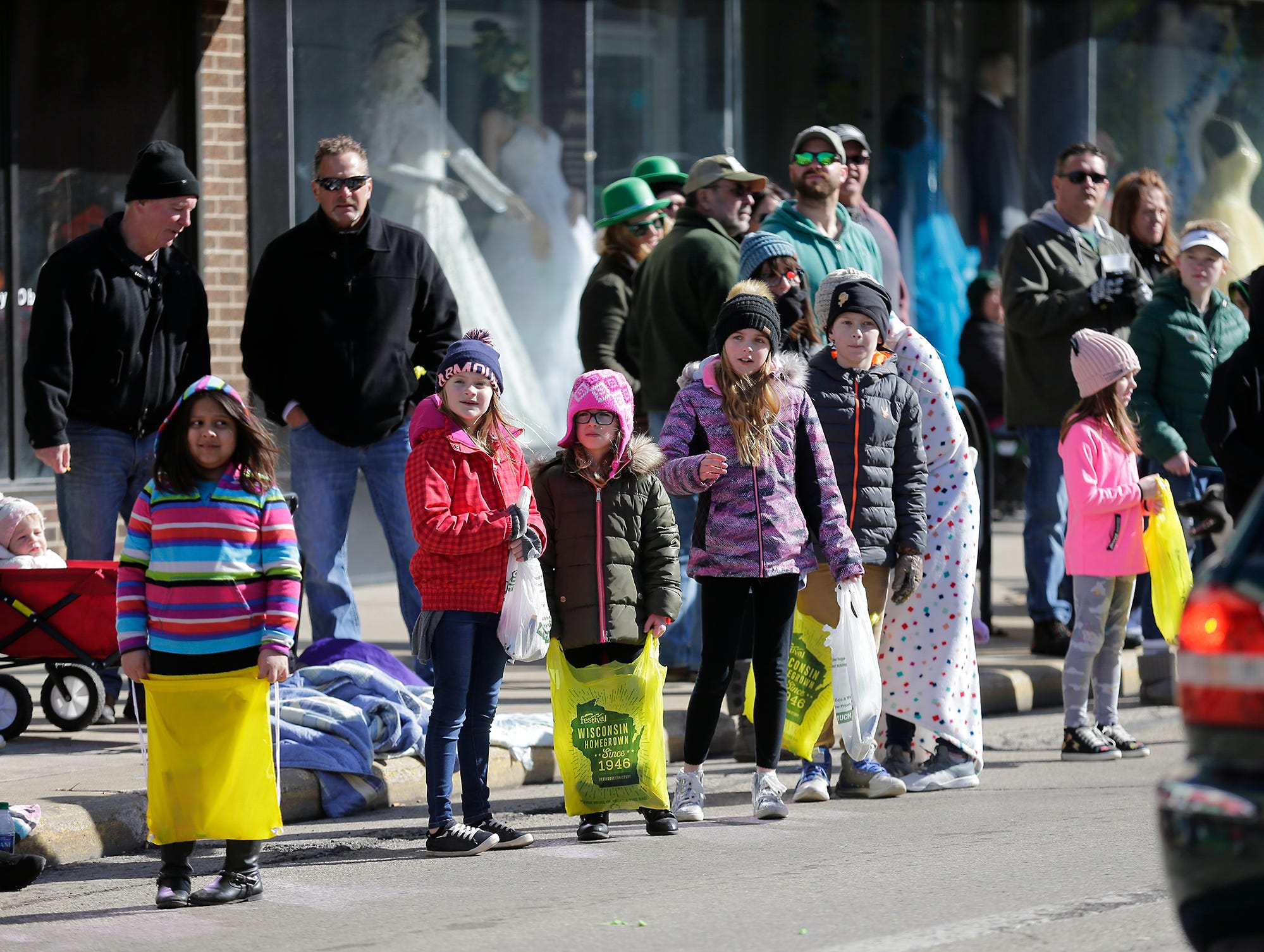 Hundreds of people lined the street Saturday, March 16, 2019 on Main Street in downtown Fond du Lac to watch the City of Fond du Lac St. Patrick's Day Parade .  Doug Raflik/USA TODAY NETWORK-Wisconsin