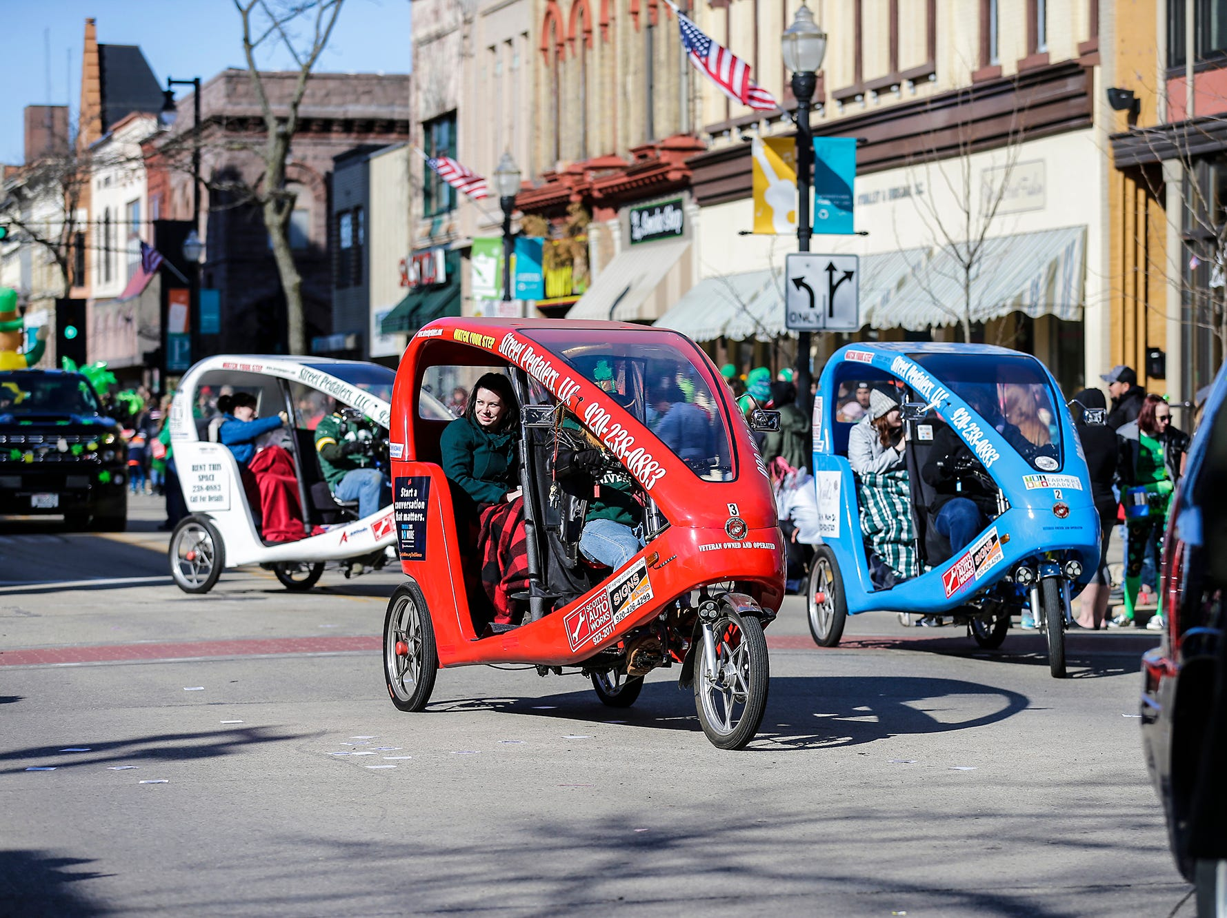 Street Pedalers LLC of Fond du Lac participated in the City of Fond du Lac St. Patrick's Day Parade Saturday, March 16, 2019 on Main Street in downtown Fond du Lac. Hundreds of people lined the street to watch over 50 parade participants. Doug Raflik/USA TODAY NETWORK-Wisconsin