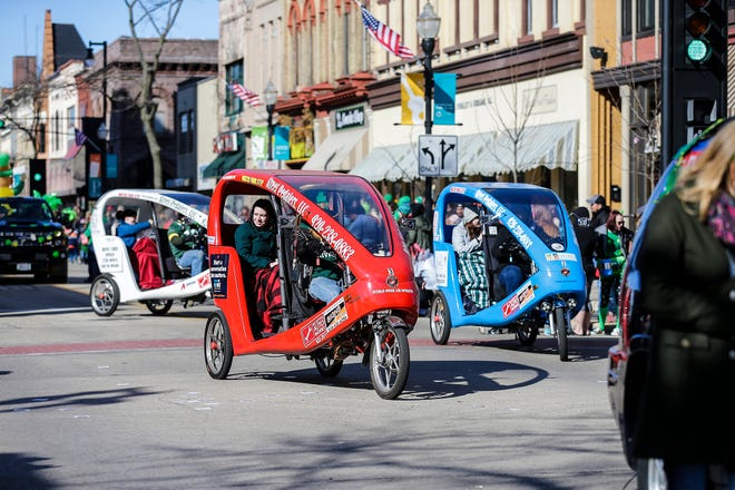 Street Pedalers LLC of Fond du Lac participated in the Fond du Lac St. Patrick's Day Parade 2019.