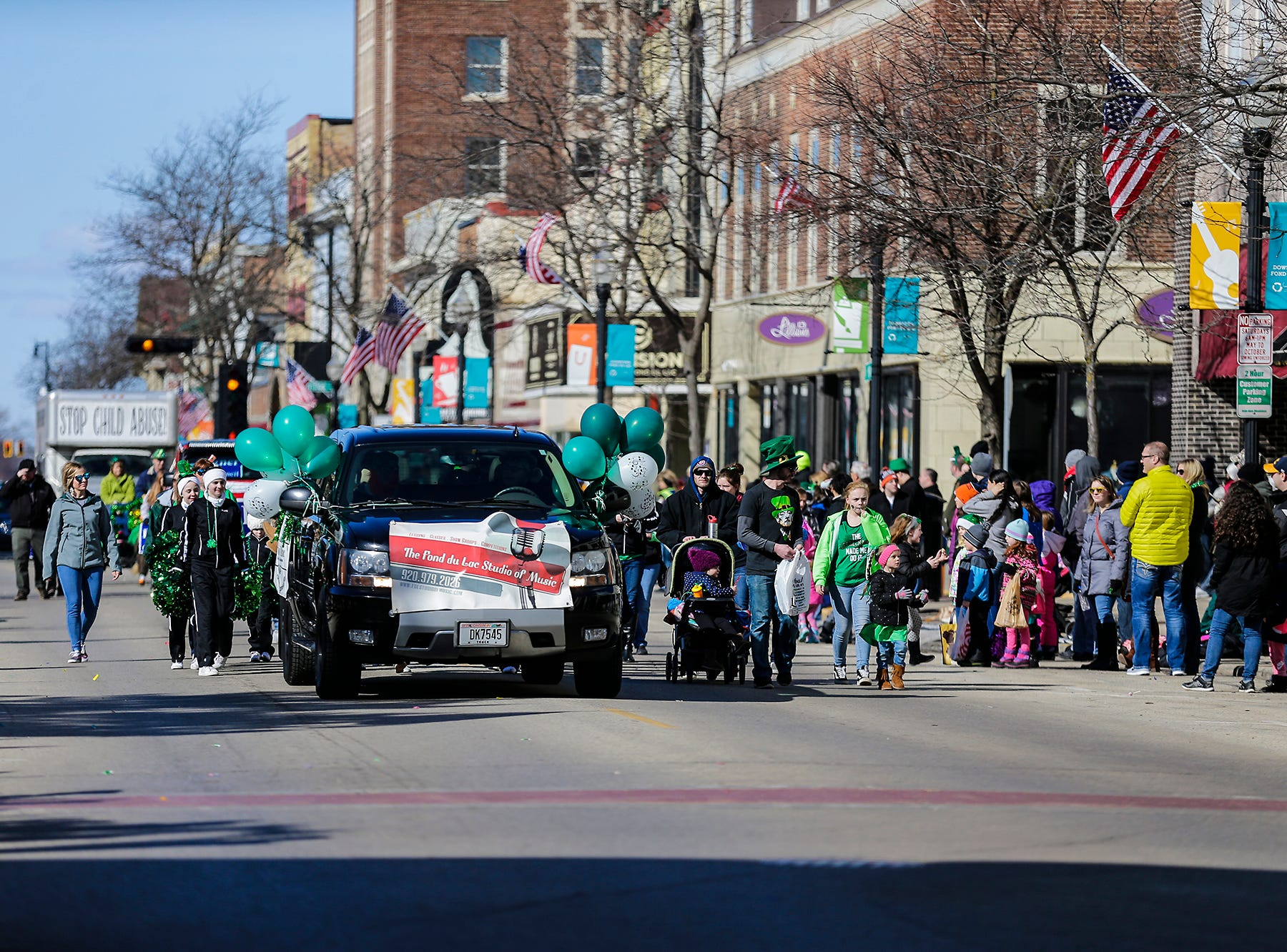 The Fond du Lac Studio of Music participated in the City of Fond du Lac St. Patrick's Day Parade Saturday, March 16, 2019 on Main Street in downtown Fond du Lac. Hundreds of people lined the street to watch over 50 parade participants. Doug Raflik/USA TODAY NETWORK-Wisconsin
