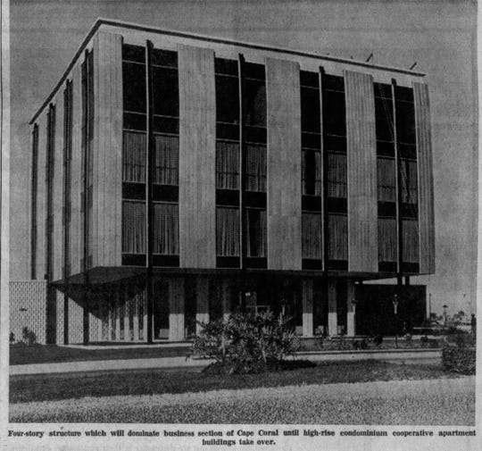 The Gulf American Land Corp.'s ultra-modern headquarters in Cape Coral opened to rave reviews in December, 1963.