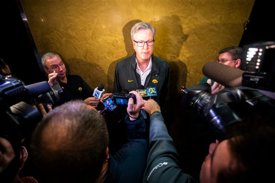 Iowa coach Fran McCaffery says the team won't pressure point guard Jordan Bohannon to return quickly from hip surgery. He has plans for how to replace the senior.