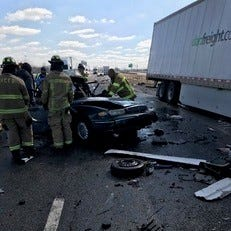Man killed in seven-vehicle chain-reaction crash on I-70 in Terre Haute