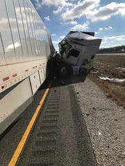 Indiana State Police are investigating a Saturday, March 16, 2019, fatal chain-reaction crash between two semi tractor-trailers and five vehicles on I-70 westbound in Terre Haute.