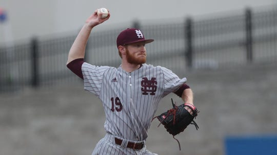 Mississippi State senior pitcher Jared Liebelt has appeared in a team-high 23 games this season. He boasts a 2.72 ERA in 36.1 innings pitched.