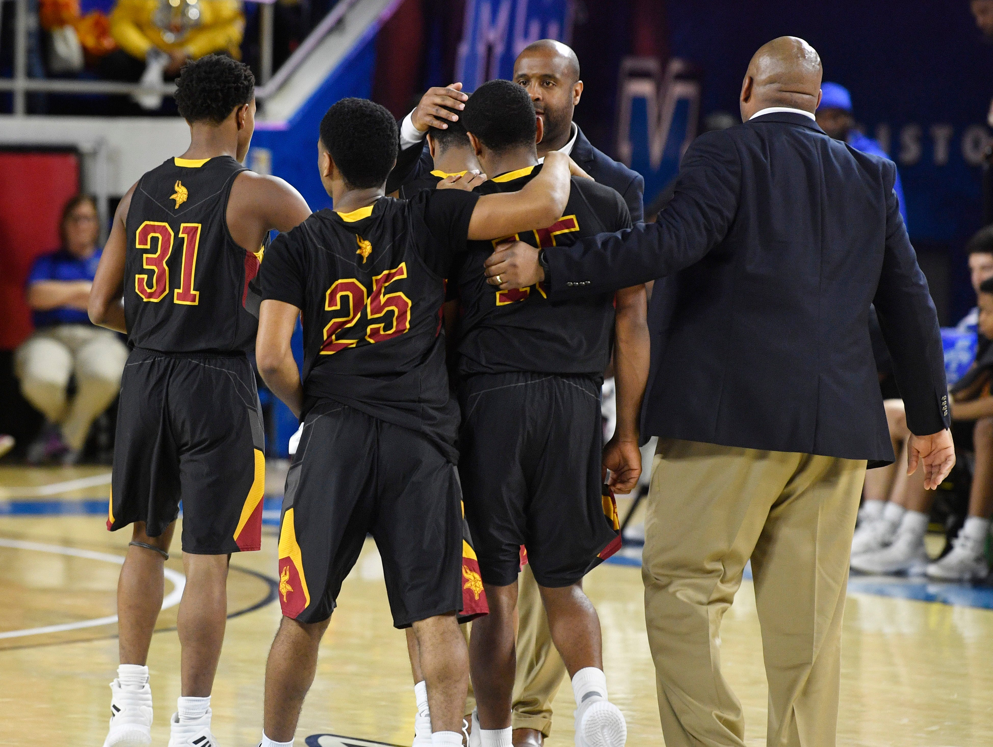 Humboldt players weren't happy with the 76-60 loss to Columbia Academy for the TSSAA Class A Championship  Saturday, March 16, 2019, in Murfreesboro, Tenn.