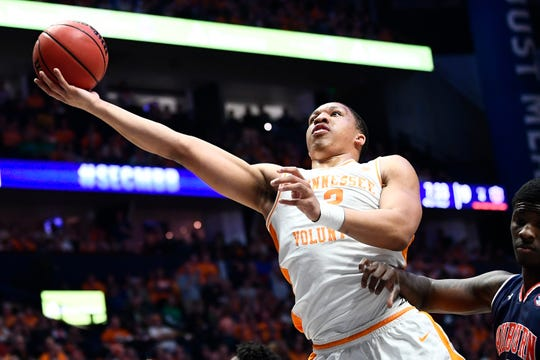 Tennessee forward Grant Williams won back-to-back SEC Player of the Year awards.