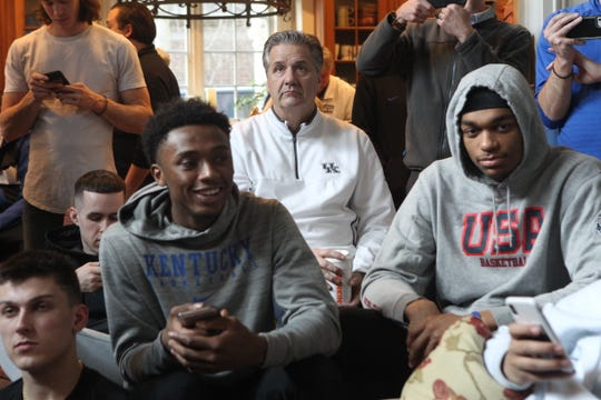 Kentucky watches Selection Sunday as they are picked as a No. 2 seed on March 17.