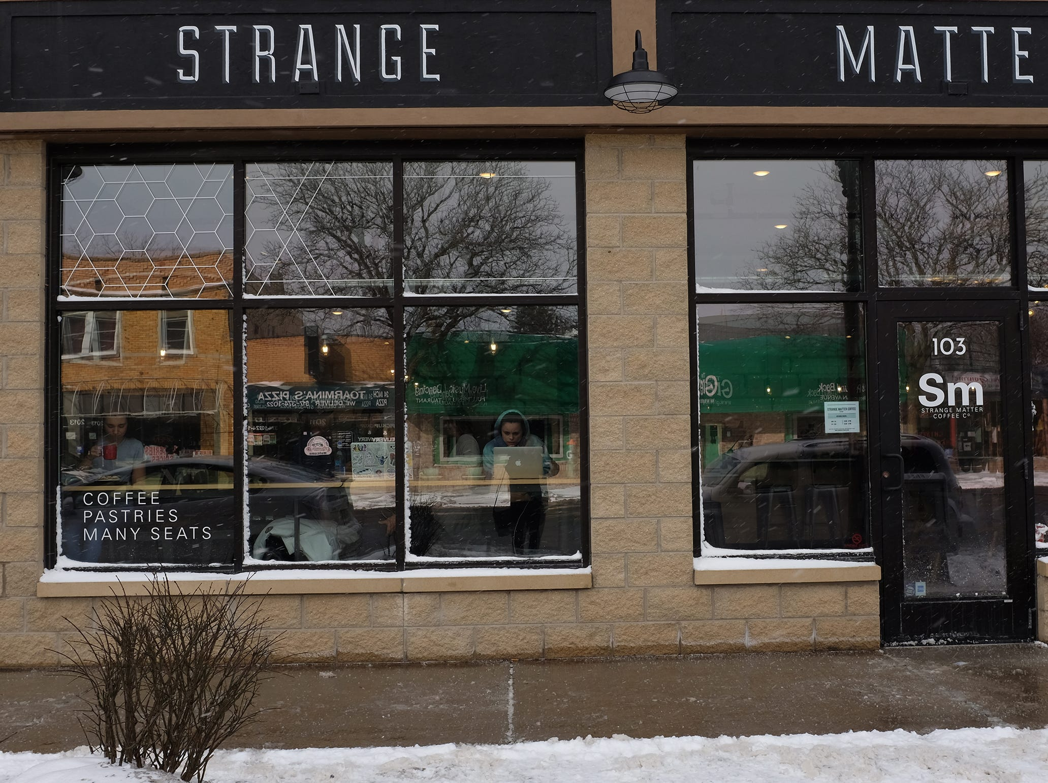 Strange Matter Coffee on Michigan Avenue is now located in The Venue across the street from where it used to be.