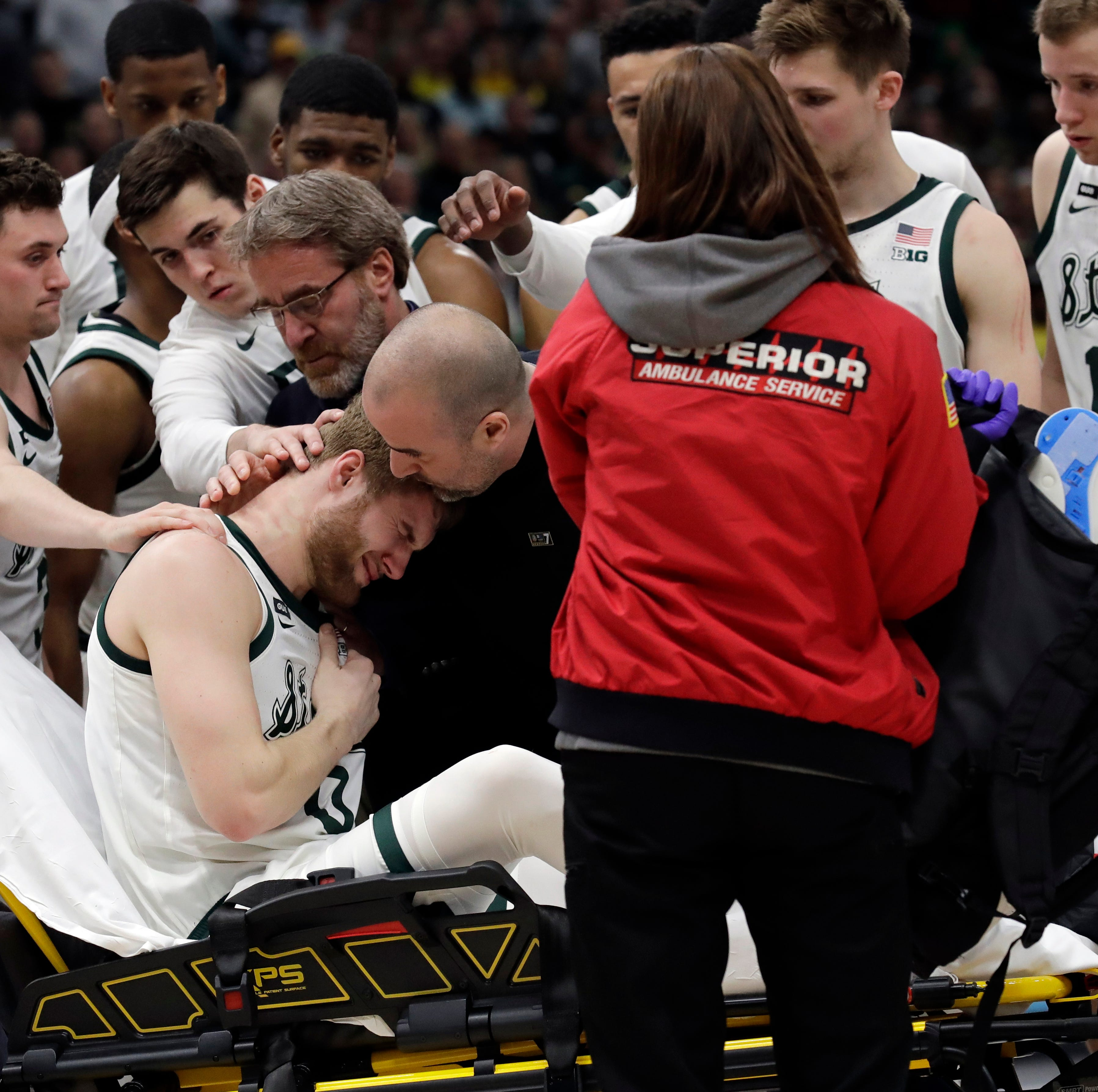 In moments of chaos, Michigan State basketball trainer provides calm voice, sound judgment